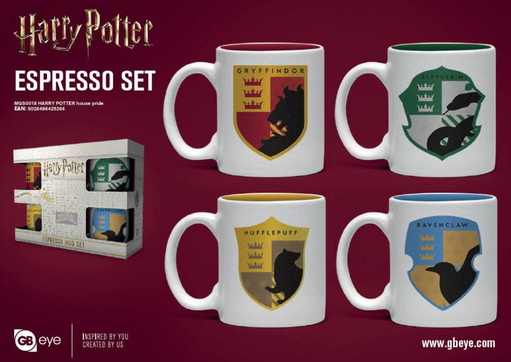 Šalica Harry Potter Espresso 4-Pack House Pride