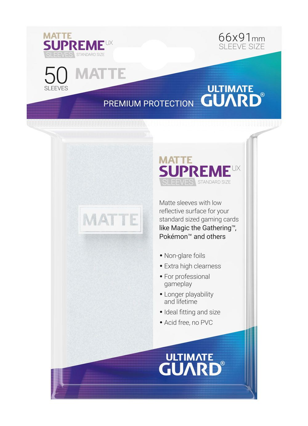 Pokemon Ultimate Guard Supreme UX Sleeves Standard Size Matte Frosted (50)