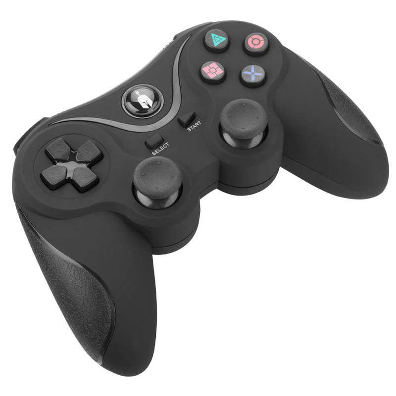 PS3 Spartan Gear Wireless Six-Axis Bluetooth Controller Black